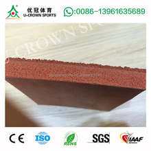 Heigh Quality Outdoor Full Pour PU Waterproof Synthetic Rubber Running Track