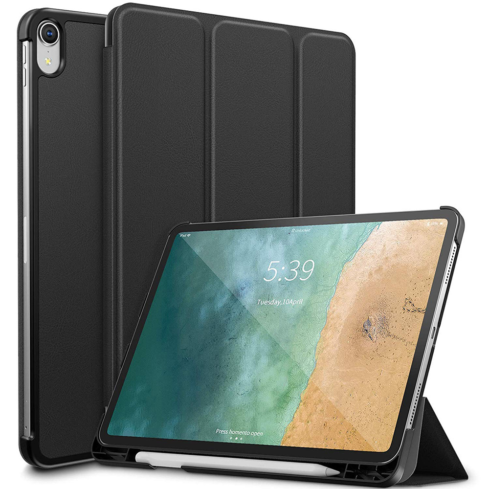 "Auto Wake / Sleep PU Leather Case for <strong>iPad</strong> Pro 11"" 2018 with Pencil Holder"