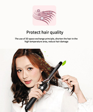 Professional PTC heating steam infusion treatment hair styling best curling iron