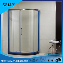Excellent waterproof performance CUPC approved cheap aluminium frame curved glass shower room door