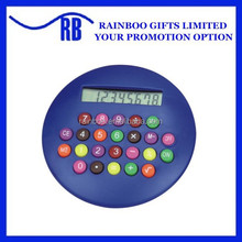 Mini Promotional plastic round hamburg shape gift Calculator with logo printed