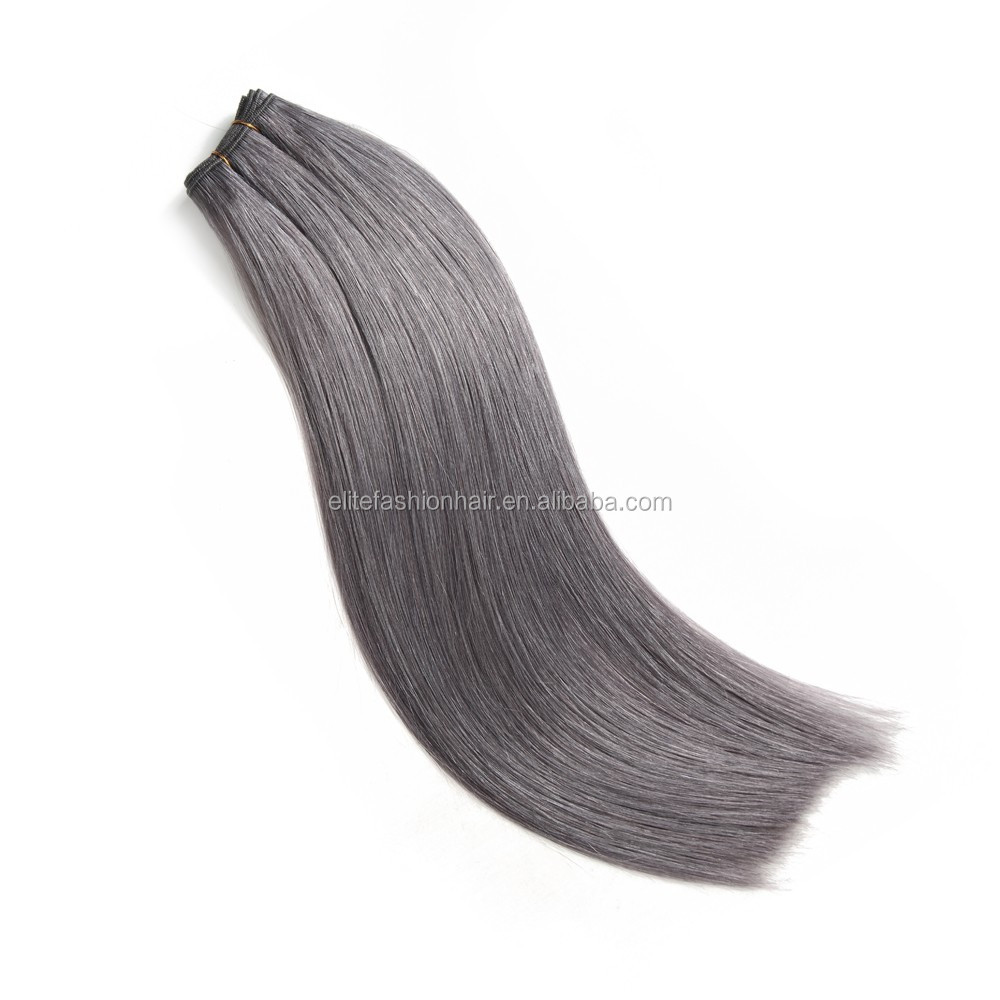 Hot Sale Granny Hairstyle Remy double weft Human Hair Weave