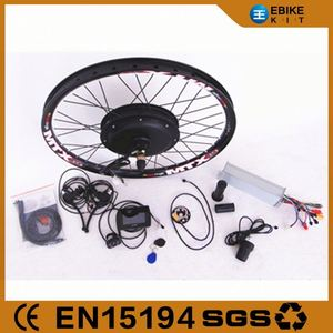Brushless 48V 1500W E Bike Electric Bicycle Conversion Kit With Battery with the TFT display