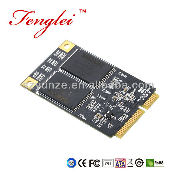 128 GB 4 channels MINI PCIE mSATA MLC SSD Solid State Disk