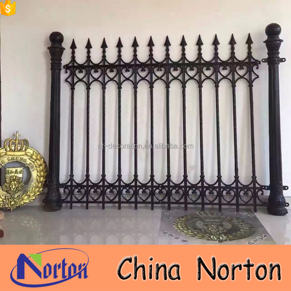 Home/garden used cheap wrought iron fence NTIF-047A