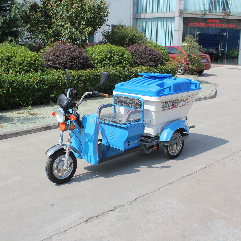 3 wheeled motorcycle garbage truck rubblish cargo tricycle