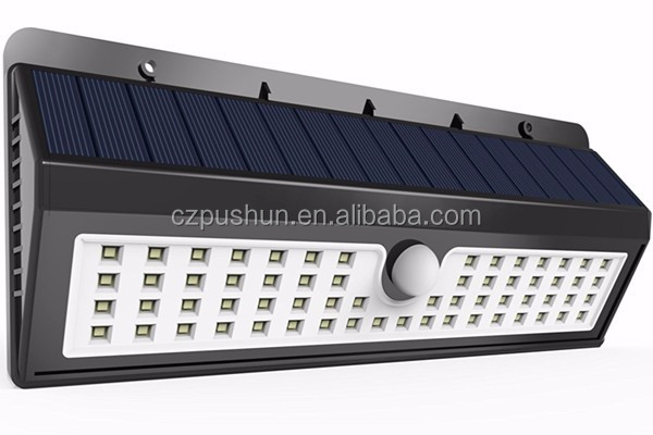 62 LED Rechargeable Solar Powered Light Corridor Garage Wall Lamp
