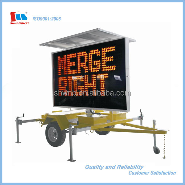 High Visible Trailer Mounted Variable Message Signs (VMS)