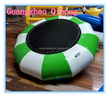 Guangzhou factory outdoor PVC trampoline inflatable bouncer jumping bed, trampoline park for sale