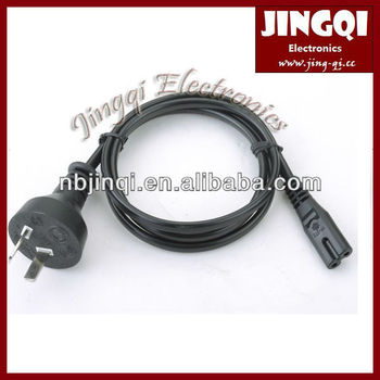 Argentina 2 pin Power Cord to IEC 60320 C7 connector (2.5A/250V)