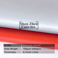 0.4mm silicone rubber coated fiberglass thermal insulation fire clothing