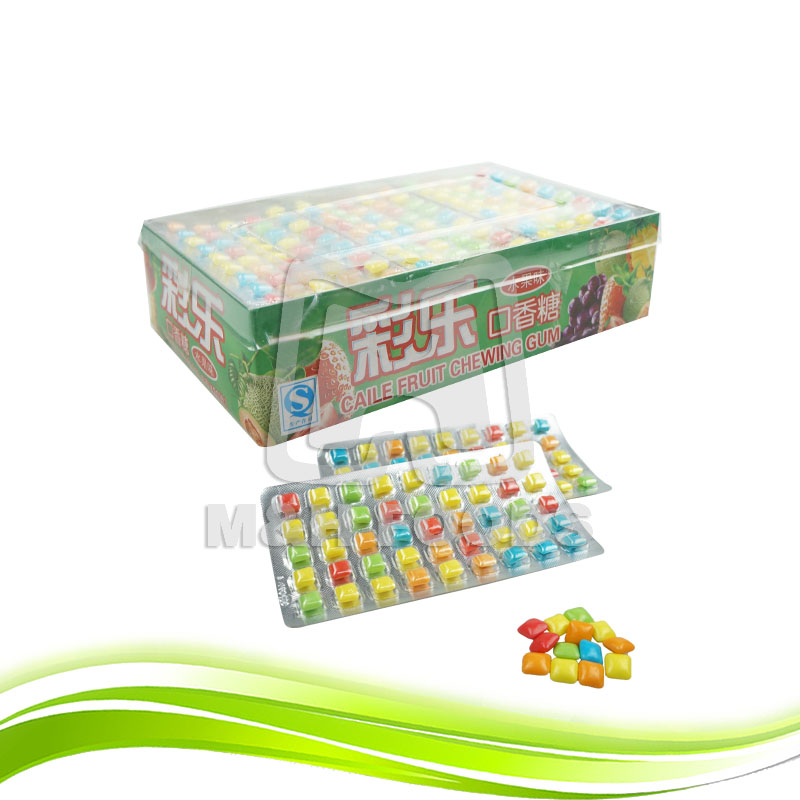 Chinese Supplier Energy Colorful Fruit Flavor Chewing Gum