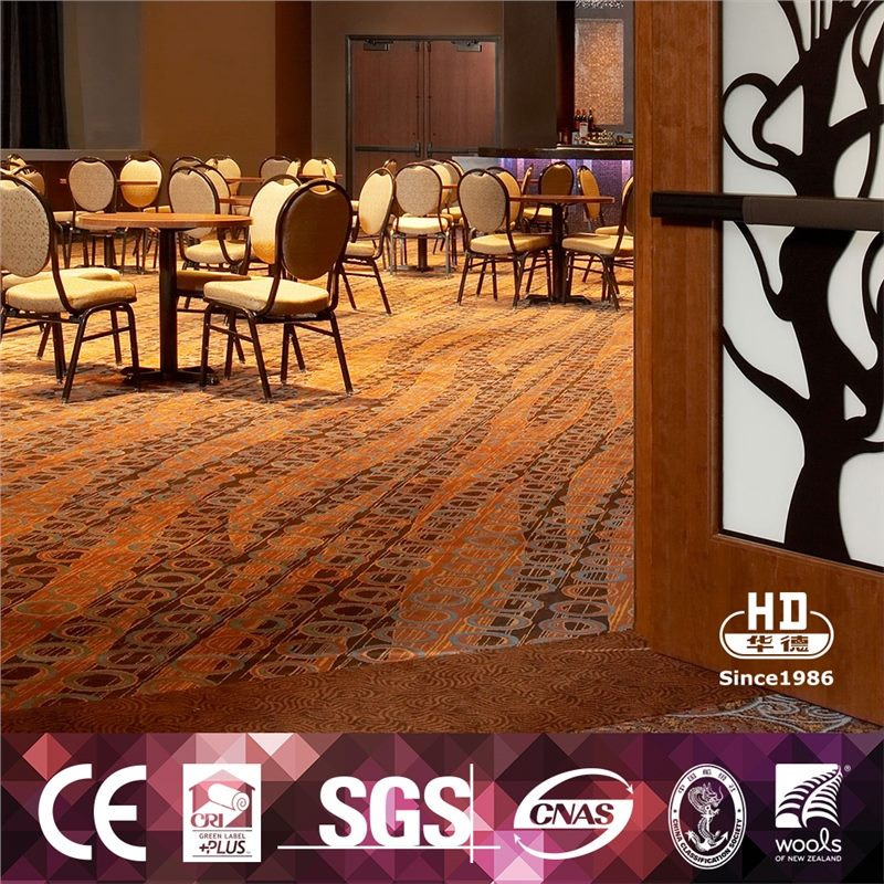 Stripe Design Carpet Axminster Casino Style Carpet For Decoration