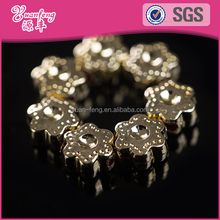 wholesale flower decorative plastic custom silver beads