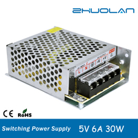 ac dc 5v 6a 30w smps led switching power supply 110/220v