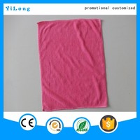 Promotional microfiber yarn solid color home towel, bath towel waffle hand towel