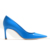 new design blue partent leather upper high heel pointed toe women single small orders ladies shoes guang zhou