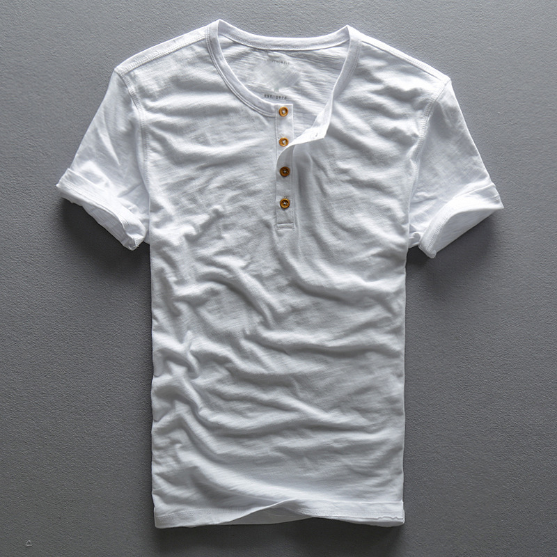 Customize mens Casual slim shirt men short sleeve linen shirts