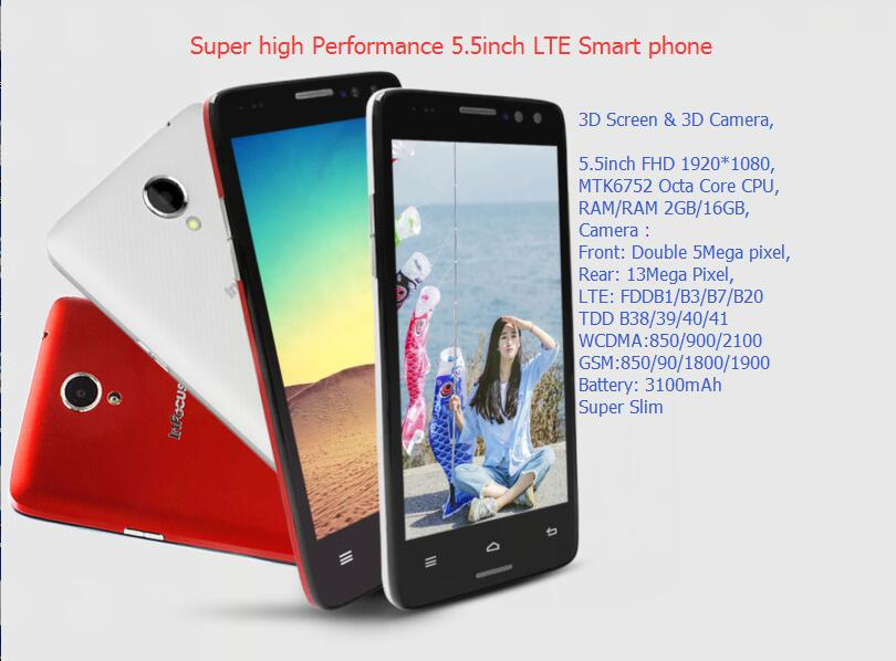 Super deal 5.5inch MTK octacore 1920*1080FHD 2G 16G With 3D Screen 3D camera 4G LTE android Smart phone
