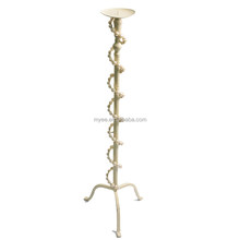 White wedding decorative floor standing metal candle holders