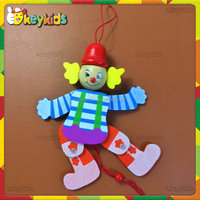 2016 wholesale kids wooden clown toy,handmade baby wooden clown toy,best sale children wooden clown toy W02A059B
