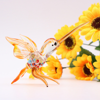 Handblown Hummingbird Glass Figurine Ornaments