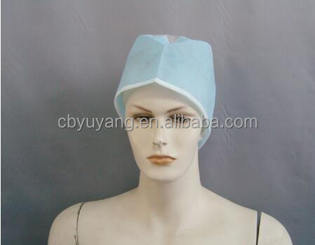 Disposable non-woven surgeon cap for hospital