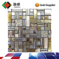 Crystal Glass Strip Mosaic Tile