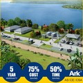 Ark Top Quality Long Lifespan Flatpack Prefabricated Steel resorts