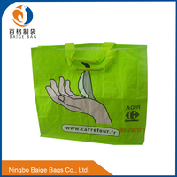 foldable recycling standard size walker laminated pp non woven cheap clear tote bag