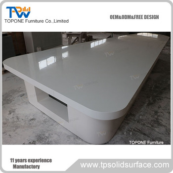 China Factory supply meeting boardroom white conference table design