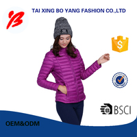 2017 style easy to carry down jackets for the winter made in China women