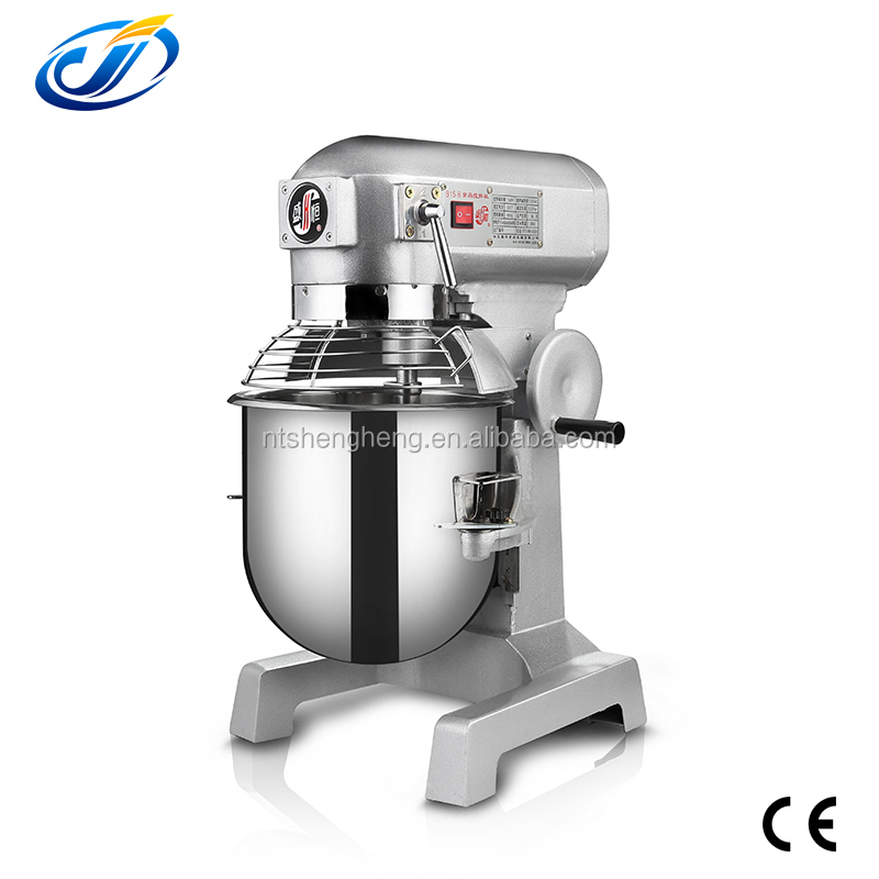 CE Certificate stainless 15L planetary cake mixer/blender
