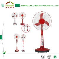 China supplier 16 inch solar ac dc rechargeable fan for home