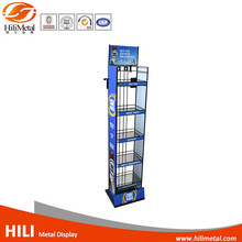 Metal Wire Display Rack Beverage Wine Bottle Storage Stand For Supermarket Retail Store