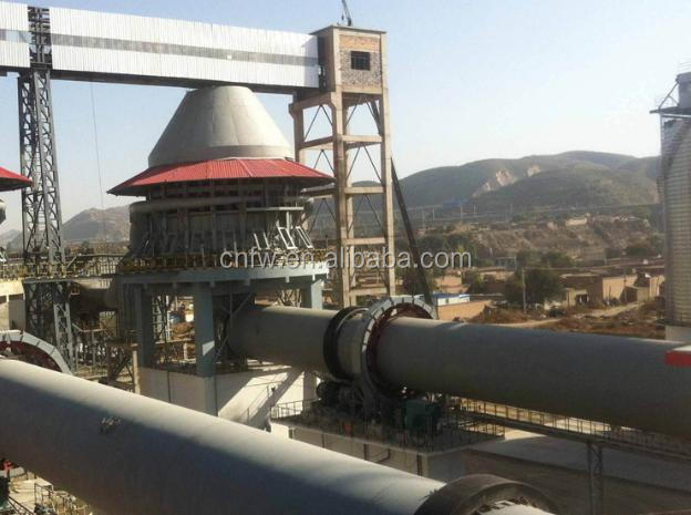 small size 55kw Fuwei manufacture rotary kiln for cement
