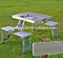 Aluminum folding picnic table and chairs outdoor furniture