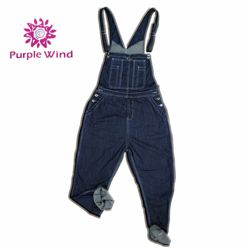 100%cotton high quality fashion style blue denim overalls for men jeans dungarees