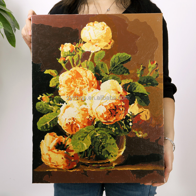 Beautiful flower oil painting flower subject paintings diy flower paintings