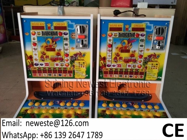 Africa Buyers Love ! Jackpot Coin Operated Mini Fruit Casino Gambling Slot Games Machines