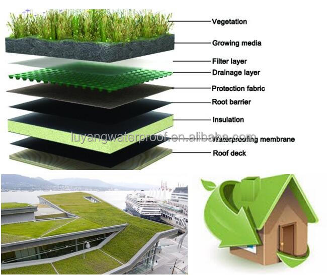 factory supply Dimpled drainage board HDPE waterproof membrane for roof garden