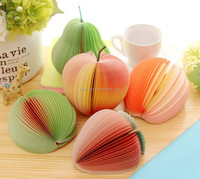 Hot sale Fruit Shaped 3D Sticky Notes Writing Paper
