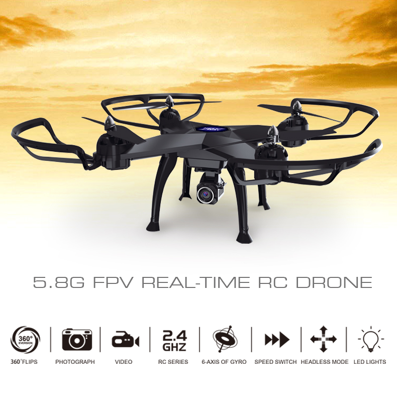5.8G FPV Video RC Drone with Camera LCD Monitor Quadrocopter drone Video