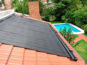 Swimming pool flexible solar panel