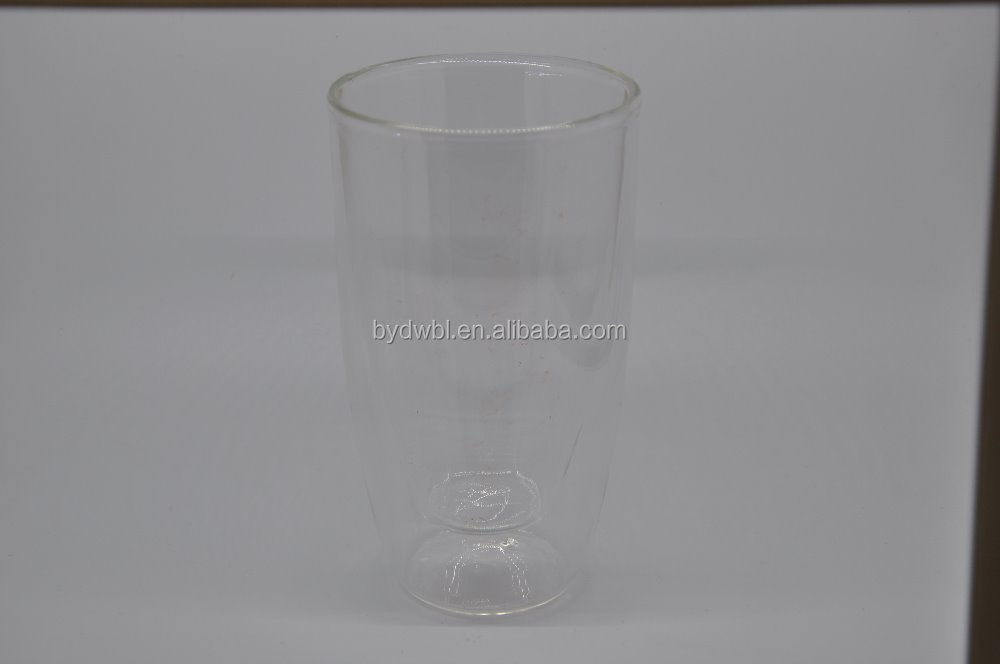 double wall glass juice cup