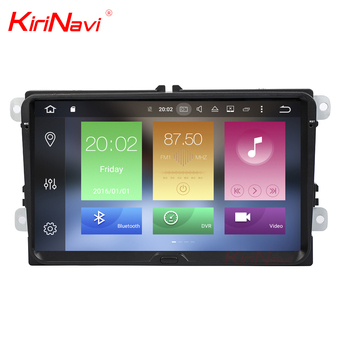 KiriNavi WC-VU8001 8 core android 6.0 stereo for vw full touch screen car radio DVD Player radio gps navigation BT 3g TV