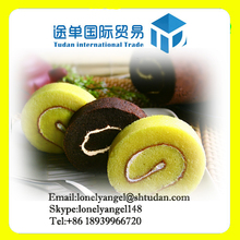 Automatic Mixing Extrusion Baking Cooling Partition Rolling Cutting Packaging Swiss Roll Production Line/Machine