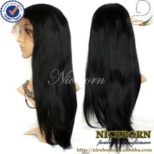 Large stock glueless cheap malaysian lace front wig with baby hair
