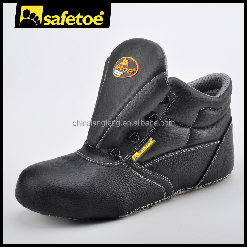 Shoes upper leather upper with steel toe steel plate for work