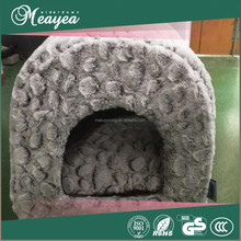 High quality polyester pet bed with roof